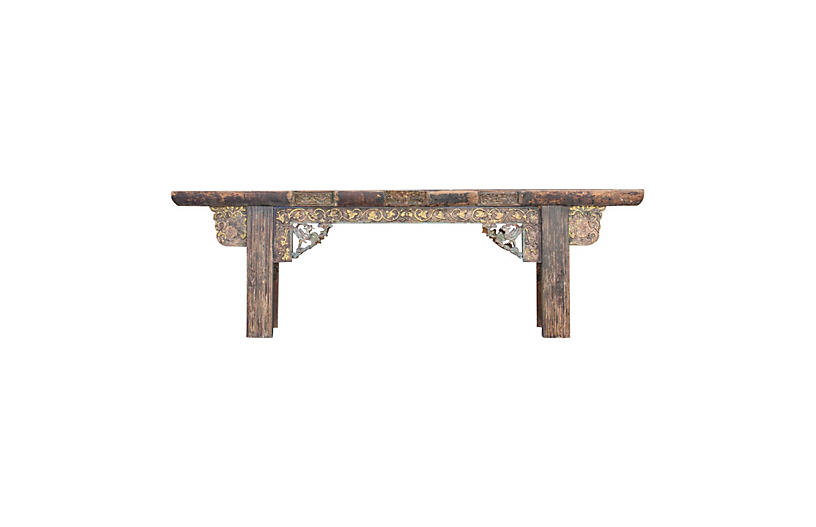 Early 19th C Chinese Long Console Table