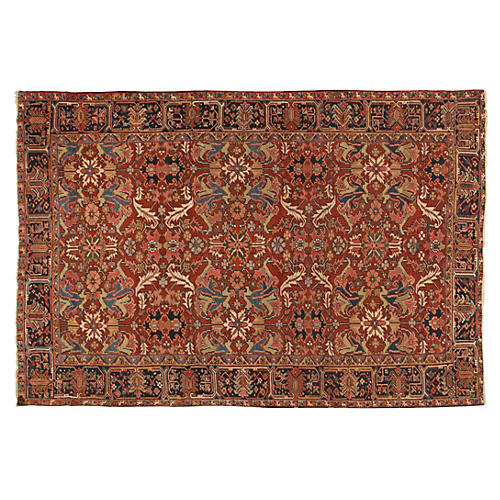 "Antique Heriz Rug, 7'8"" x 10'8"""