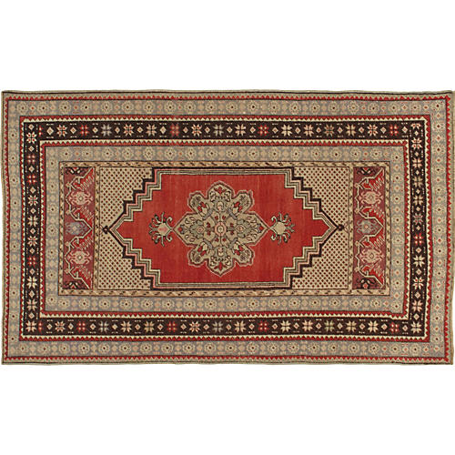 """Oushak Hand-Knotted Rug, 3'6"""" x 5'6"""""""