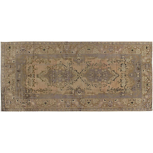 "Turkish Oushak Rug, 4'10"" x 10'2"""