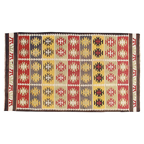 Turkish Kilim 5'11 x 10'4