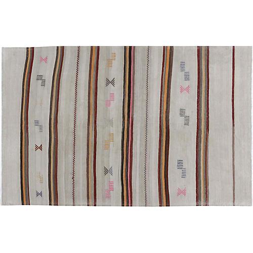 Turkish Handwoven Kilim, 5'8 x 9'2