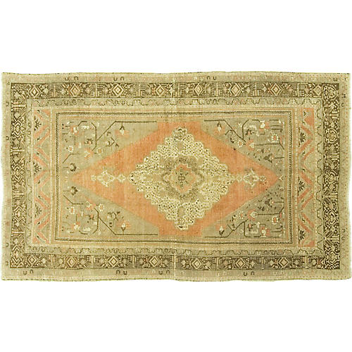 Turkish Oushak Rug 5'11 x 10'2