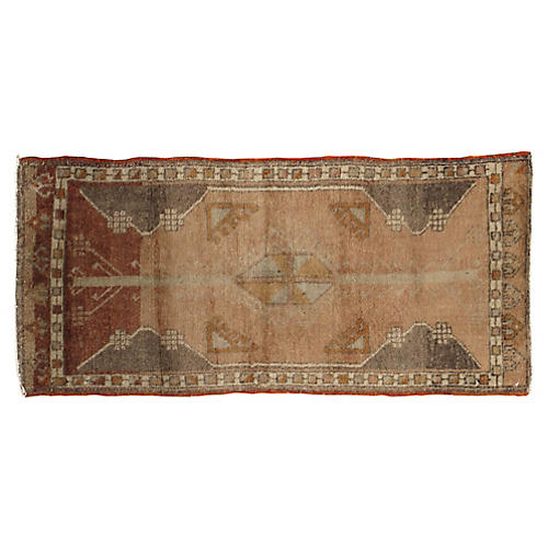 "Turkish Yastik Rug, 1'7"" x 3'8"""