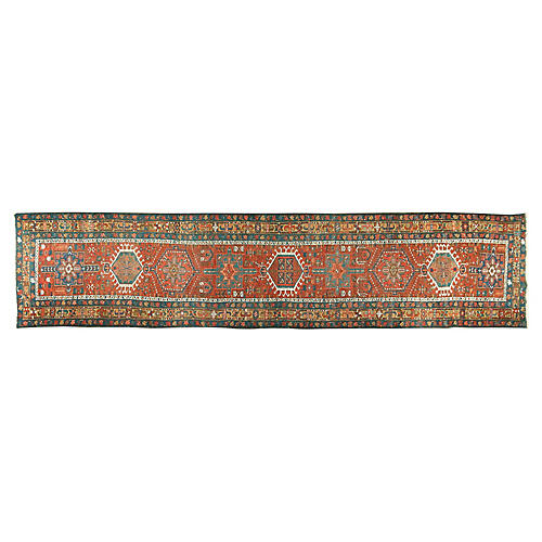 "Persian Heriz Runner, 3'2"" x 14'3"""
