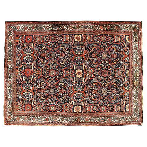 """Antique Mahal Carpet, 9'4"""" x 12'5"""""""