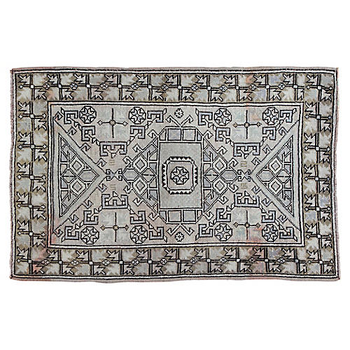 "Turkish Oushak Rug, 3'11"" x 6'"