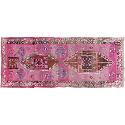 Turkish Oushak Rug, 6' x 14'