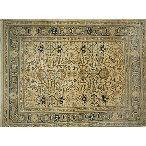 """Persian Sarouk Carpet, 9'3"""" x 12'6"""""""