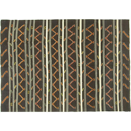 "Turkish Kilim Rug 6'10"" x 9'6"""
