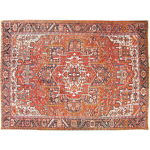 "Persian Heriz Carpet, 9'3"" x 12'8"""