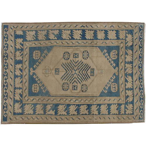 "Turkish Oushak Rug, 4'6"" x 6'7"""