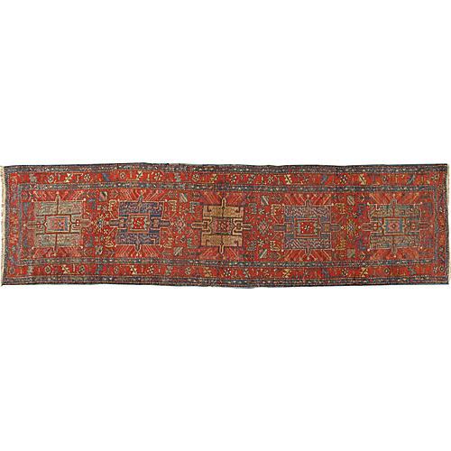 Persian Heriz Runner Rug 2'11 x 11'2