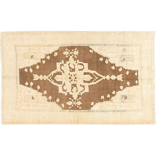"Turkish Oushak Rug, 4'8"" x 7'6"""