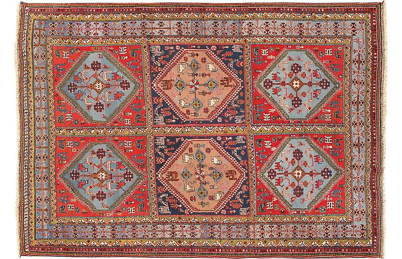 Afshar Hand Woven Rug 6'8 x 9'6