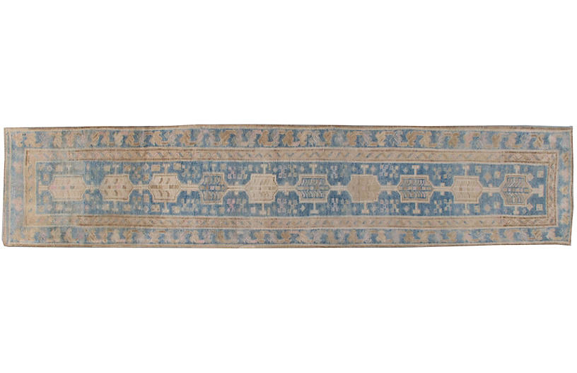 Turkish Oushak Rug Runner 2'6 x 11'8