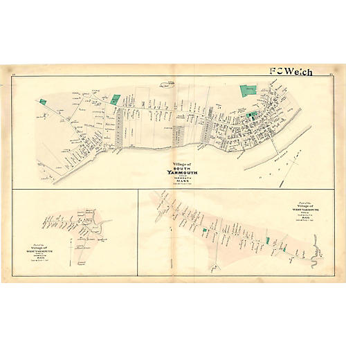 Map of Yarmouth, 1880