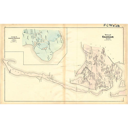 Map of Chatham, Cape Cod, 1880