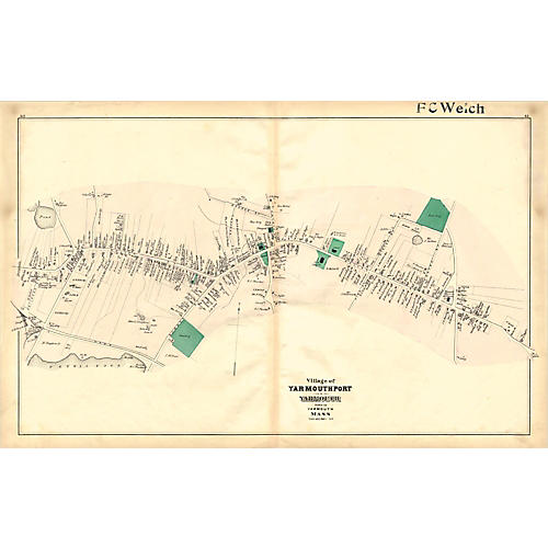Map of Yarmouthport, Cape Cod, 1880