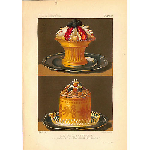 French Cuisine, Hot Pie, Timbale, 1868