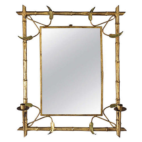 Gilded Mirror w/ Candleholders