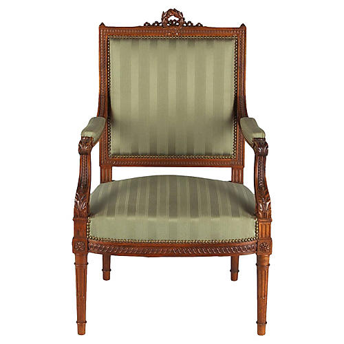 French Louis XVI-Style Armchair, C.1900