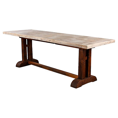 French Country Oak Trestle Table