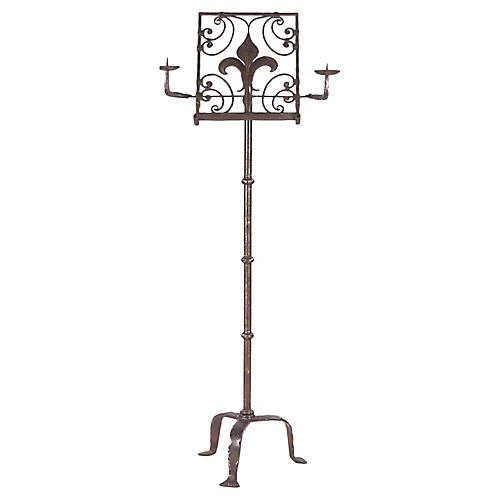 19th Century French Iron Music Stand