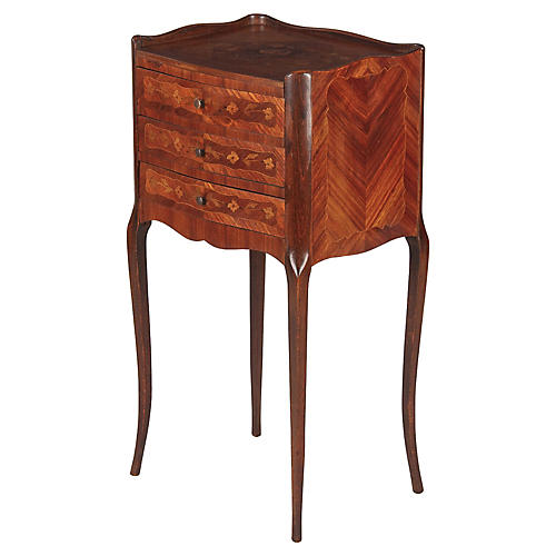 French Louis XV Style Marquetry Chest