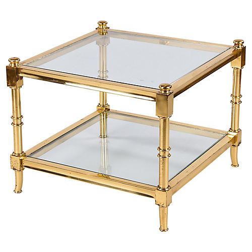 French Brass Side/Coffee Table, 1960s