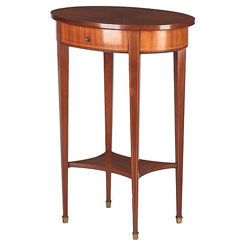 Louis XVI Style Mahogany Side Table