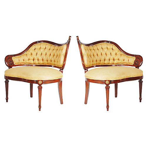 Fireside Chairs, Pair