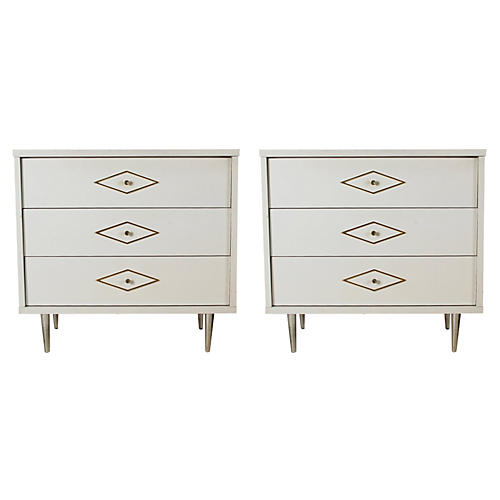 Modern Chests of Drawers, Pair
