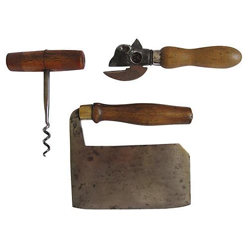 Primitive Kitchen Tools, 3 Pcs