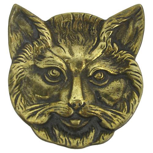 Brass Cat Trinket Dish