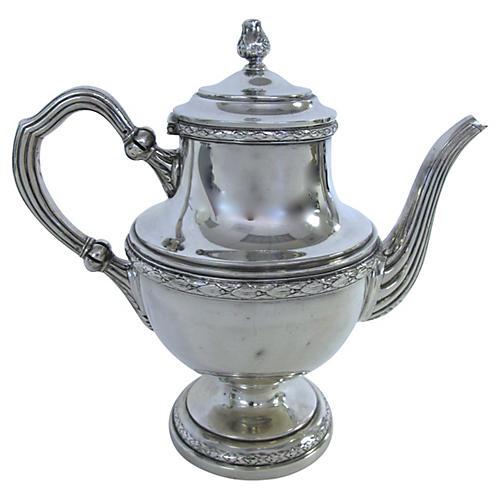 English Silverplate Coffee Pot