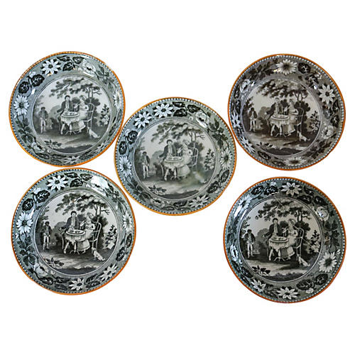1820s Transferware Tea Bowls, S/5