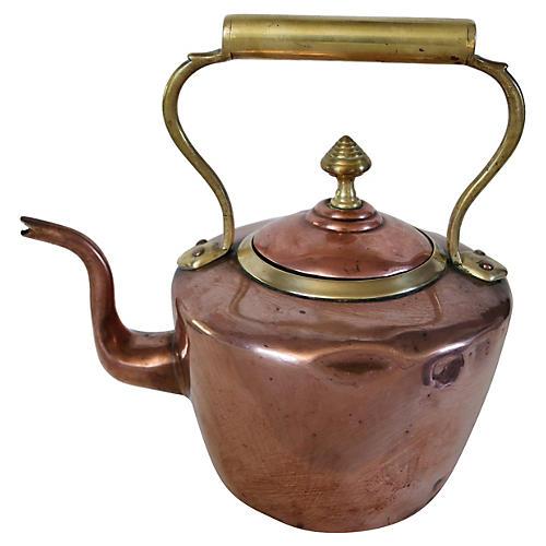 Antique English Copper Tea Kettle