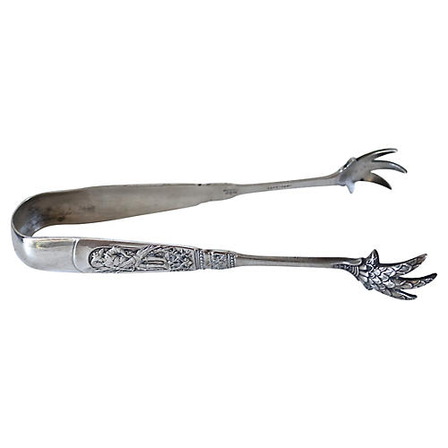Antique Gorham Sterling Silver Tongs