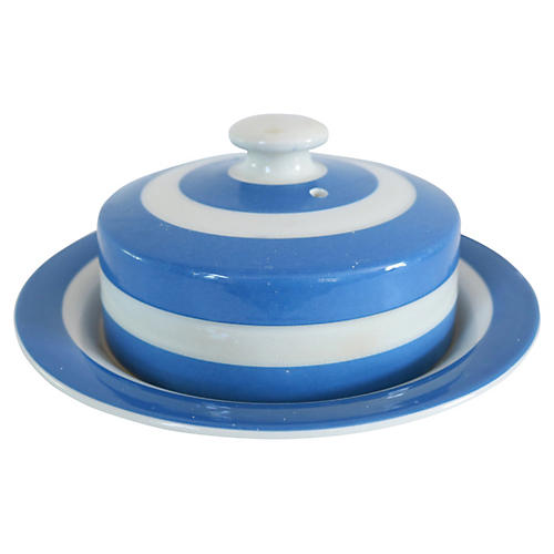English Cornishware Butter Dish