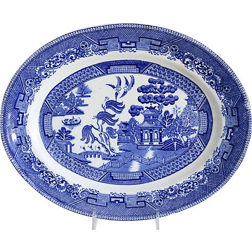 English Willow Oval Platter