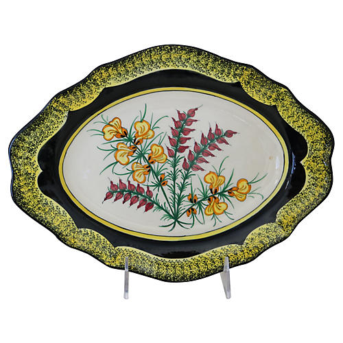 French Quimper Faience Wall Platter
