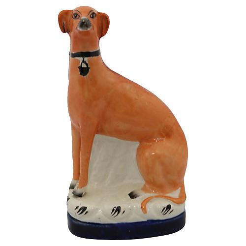 Antique Staffordshire Greyhound
