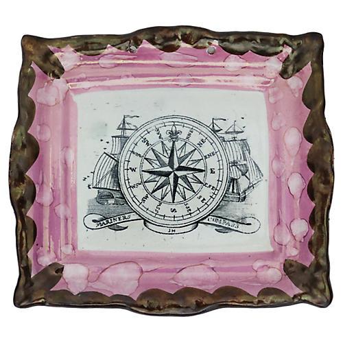Antique English Luster Nautical Plaque