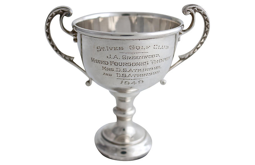 1956 Sterling Husband & Wife Golf Trophy – Rose Victoria