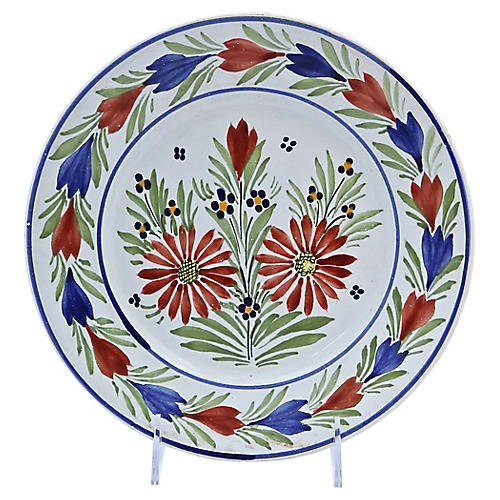 French Quimper Faience Wall Plate