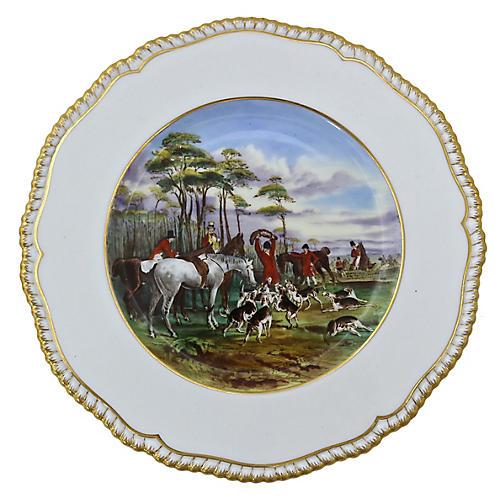 Spode Porcelain Hunting Scene Wall Plate