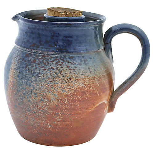 French Terracotta Rosé Wine Cooling Jug