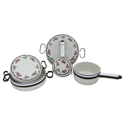 French Porcelain Cookware, 5 Pcs