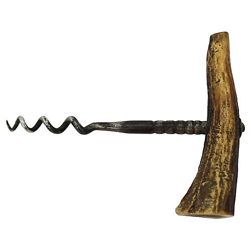 English Horn Handled Cork Screw